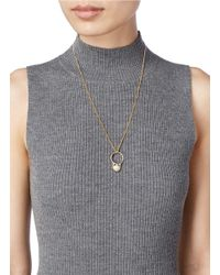 Chloé Metallic 'danny' Pearl Ring Pendant Necklace
