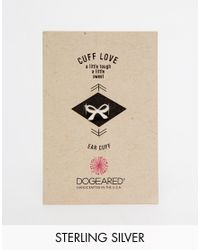 Dogeared | Metallic Sterling Silver Cuff Love Bow Ear Cuff | Lyst