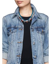 Joomi Lim | Blue Cotton Braid Crystal Necklace | Lyst