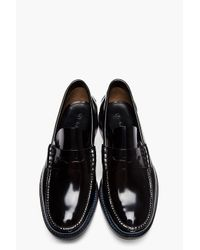 PS by Paul Smith - Black Patent Leather Hand Stitched Loafers for Men - Lyst