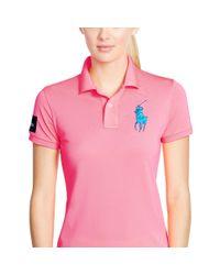 Ralph Lauren - Pink Us Open Big Pony Polo - Lyst