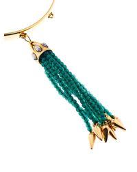 Lulu Frost - Green Nomadic Tassel Bracelet - Lyst