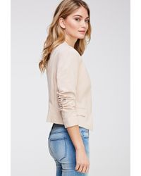 Forever 21 - Pink Ruched-Sleeve Blazer - Lyst