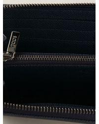 Tod's - Blue Zip Around Wallet for Men - Lyst