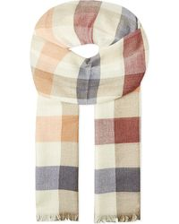 Johnstons | Natural Festival Checked Scarf for Men | Lyst