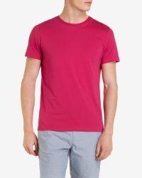 Ted Baker - Pink Crew Neck T-shirt for Men - Lyst
