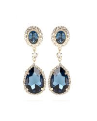 Givenchy | Blue Embellished Clip-on Earrings | Lyst