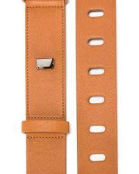 Cedric Charlier - Brown Cut-out Detail Belt - Lyst