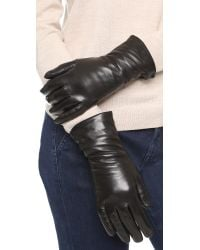 Hestra | Black Leather Gloves | Lyst