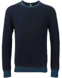 Eleventy - Blue Crew Neck Sweater for Men - Lyst