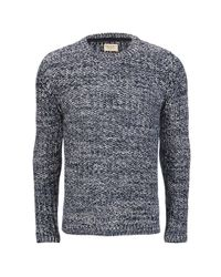 Nudie Jeans | Blue Men's Dag Reverse Knitted Jumper for Men | Lyst