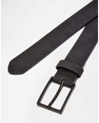 ASOS - Smart Belt In Black Faux Suede for Men - Lyst