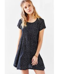 Silence + Noise   Black Witchy T-shirt Dress   Lyst