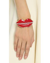 Erickson Beamon - So Real Cuff Bracelet - Red/gold - Lyst