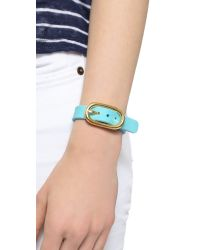 Marc By Marc Jacobs - Blue Buckle Up Silicone Bracelet - Black Multi - Lyst