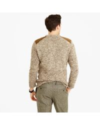 J.Crew - Brown Wool-alpaca Shoulder-patch Sweater for Men - Lyst