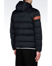 EA7 - Black Down Coat for Men - Lyst