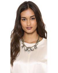 Adia Kibur - Metallic Crystal Choker Necklace - Lyst