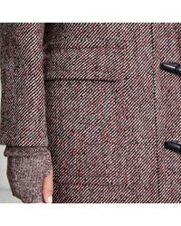 Trademark | Red Tweed Duffle Coat | Lyst