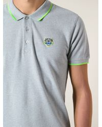 KENZO - Gray Jungle Logo Polo Shirt for Men - Lyst