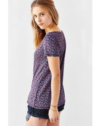 BDG - Purple Printed Scoop-neck Tee - Lyst