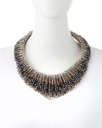 Nakamol | Metallic Czech Crystal Statement Necklace | Lyst