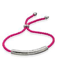 Monica Vinader | Red Esencia Friendship Bracelet | Lyst