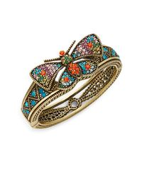 Heidi Daus | Multicolor Come Fly With Me Crystal Pavã© Butterfly Bangle Bracelet | Lyst
