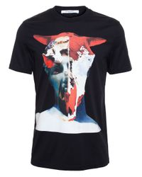 509fdad6560a Givenchy Cow Skull And Statue T-Shirt in Black for Men - Lyst