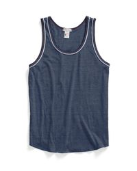 Todd Snyder | Piped Tank Top In Blue Mix for Men | Lyst