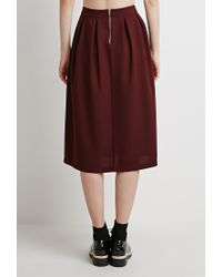 Forever 21 | Purple Box Pleat A-line Skirt You've Been Added To The Waitlist | Lyst