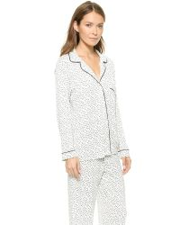 Eberjey | Blue Sleep Chic Printed Stretch-Jersey Pajama Set | Lyst