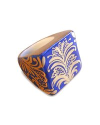 Wagner Arte | Blue Square Porcelain Ring | Lyst