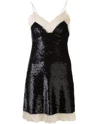 Ashish - Black Sequinned Slip Dress - Lyst