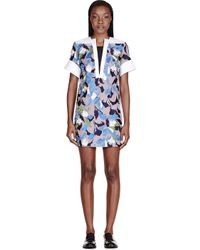 Peter Pilotto - White Taupe Embroidered Lea Tunic Dress - Lyst