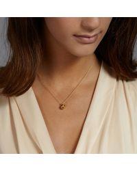 Alex Monroe - Metallic Peach Necklace - Lyst