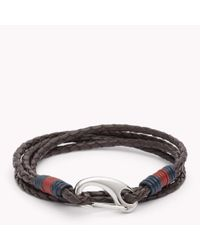 Tommy Hilfiger | Brown Tommy Leather Bracelet for Men | Lyst