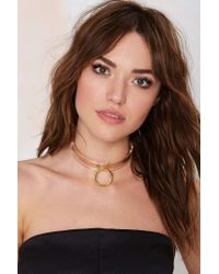 Nasty Gal | Metallic I Still Love You Nyc Slave To Fashion Choker Necklace | Lyst