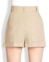 Michael Kors | Pleated Linen Shorts | Lyst