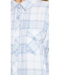 Rails - Blue Liam Button Down - Vintage Wash Plaid - Lyst