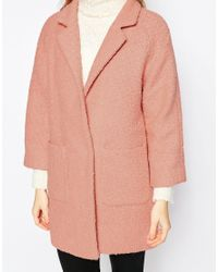 Ganni | Pink Woollen Double Pocket Coat | Lyst