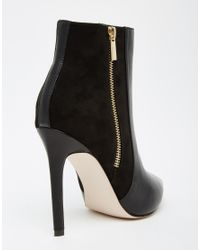 ASOS - Black Ecuador Wide Fit Pointed High Ankle Boots - Lyst