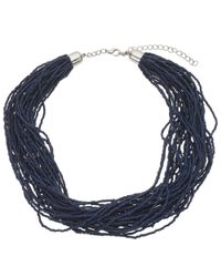 John Lewis - Blue Twisted Bead Necklace - Lyst