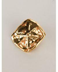 Christian Lacroix | Metallic Hammered Earrings | Lyst