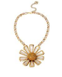 Betsey Johnson - Metallic Gold-Tone Daisy Large Pendant Necklace - Lyst