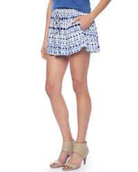 Ella Moss | Blue Cortez Printed Shorts | Lyst