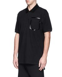 Givenchy - Black Heat Seal Faux Pocket Polo Shirt for Men - Lyst