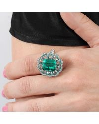 Arunashi | Green Columbian Emerald And Diamond Ring | Lyst