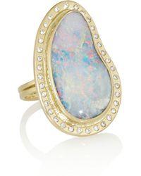 Melissa Joy Manning | Blue 14karat Gold Opal and Diamond Ring | Lyst
