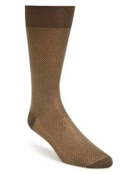 Canali | Brown Pattern Socks for Men | Lyst